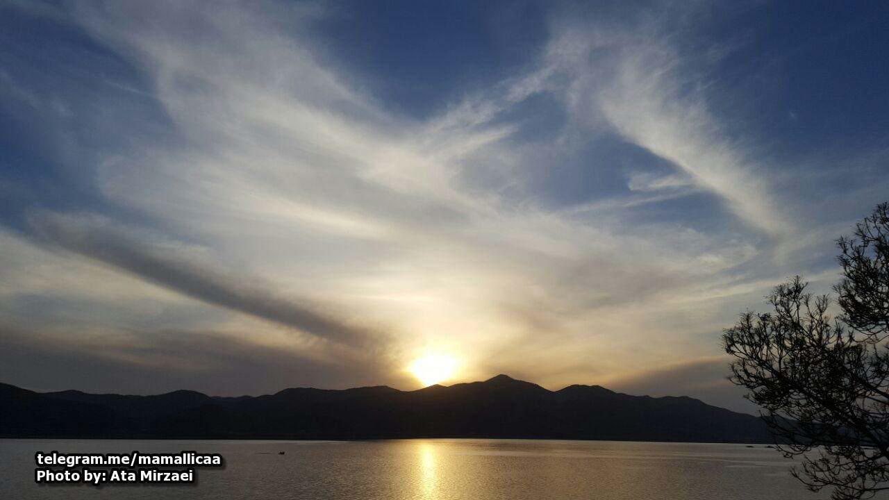 غروب دریاچه مریوان